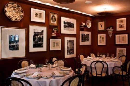 Salão do restaurante Tre Bicchieri