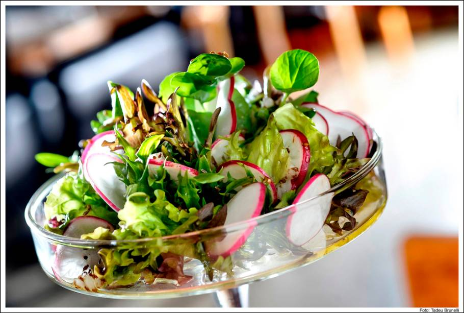 Receita de Lina Bo Bardi: Mix de folhas e carpaccio de rabanete ao molho de erva doce