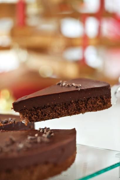 A torta de chocolate