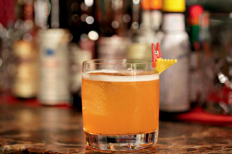 O drinque unusual, à base de uísque