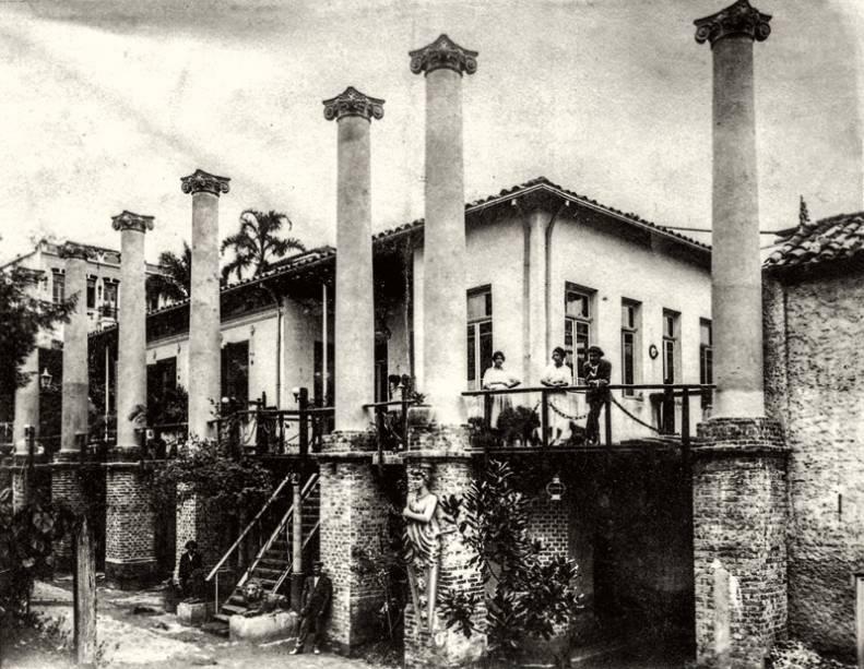 O complexo durante sua construção, nos anos 20: idealizado pelo português Francisco de Castro