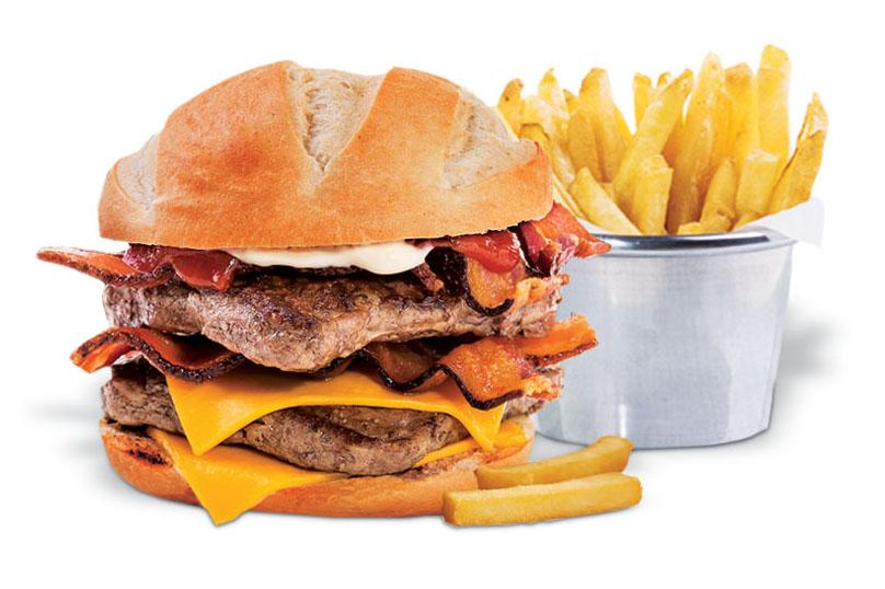 Hambúrguer quadrado