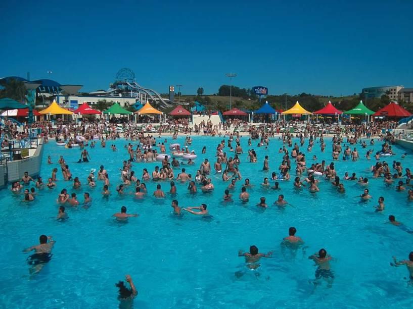 Uma das piscinas do Wet'n Wild