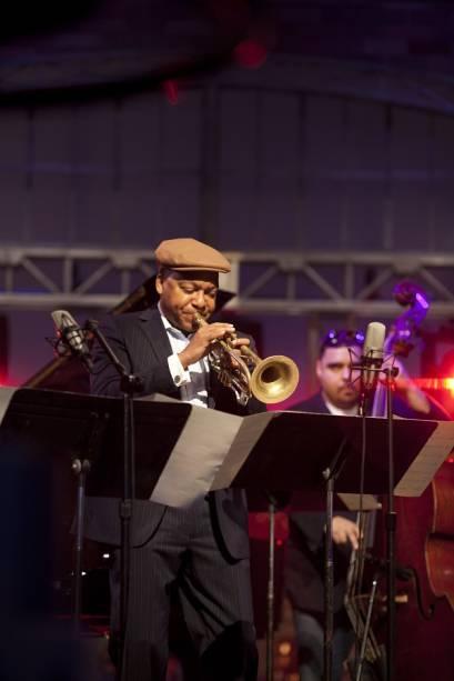 O americano Wynton Marsalis: apresentação ao lado da Jazz at Lincoln Center Orchestra