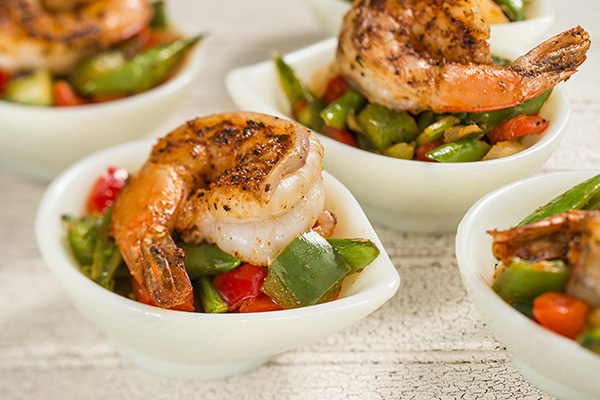 Grilled Sweet and Spicy Bush Berry Shrimp