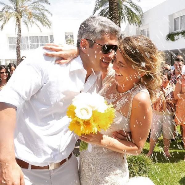 Gustavo Corrêa com a esposa, Giovana: juntos há 9 anos