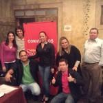 O grupo reunido: clima de confraternização