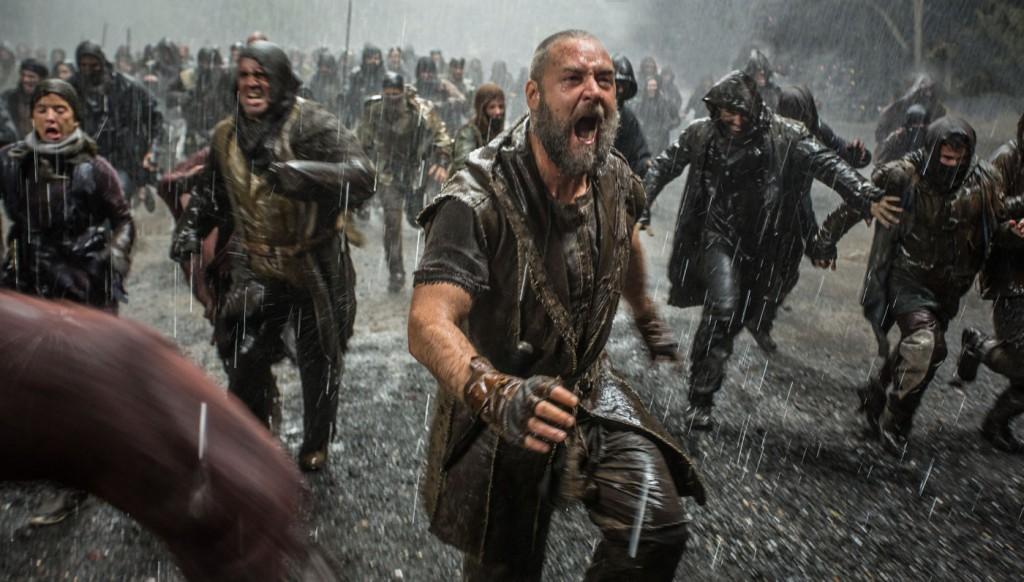 A cena da tentativa de invasão à arca, que não existe na Bíblia