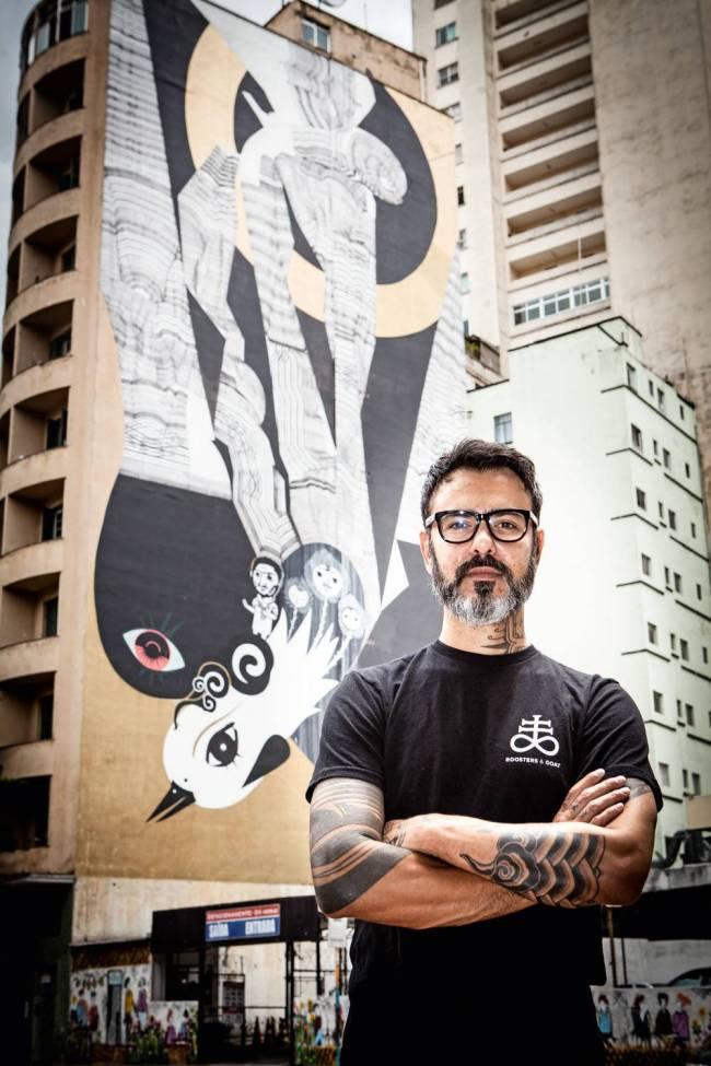 Grafites laterias de prédios