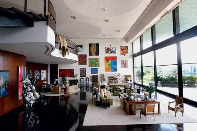 Sala da mansão de Edemar Cid Ferreira