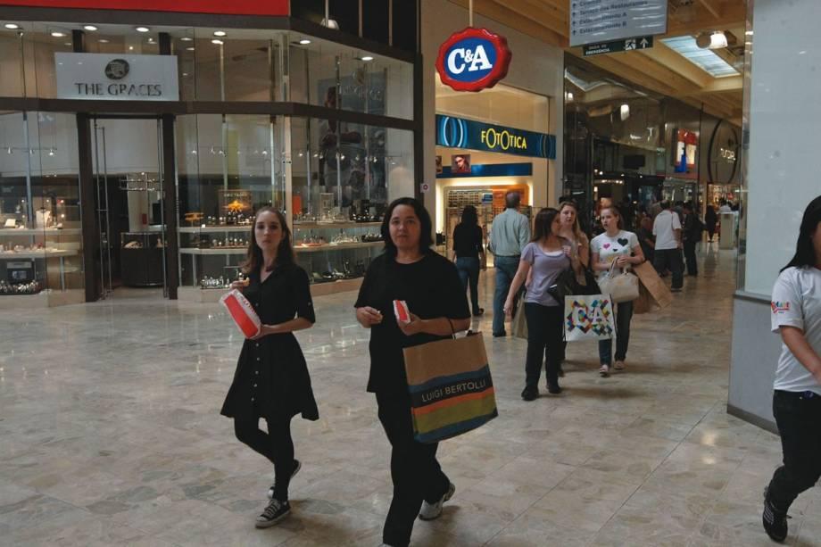 Shopping Center Norte: corredores amplos