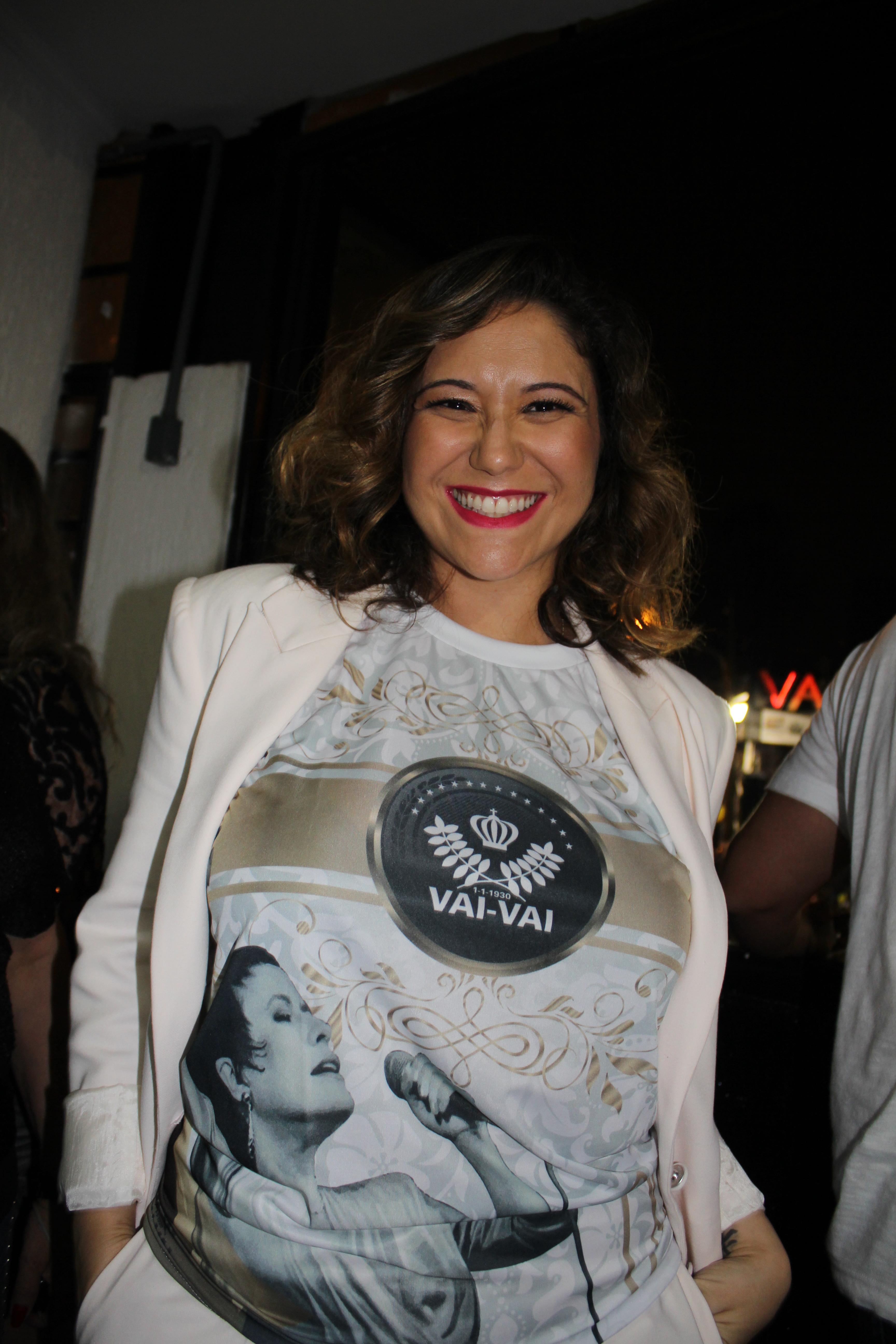 Maria Rita, filha de Elis Regina, participa de ensaio técnico da Vai-Vai neste sábado (24) (Foto: Divulgação)