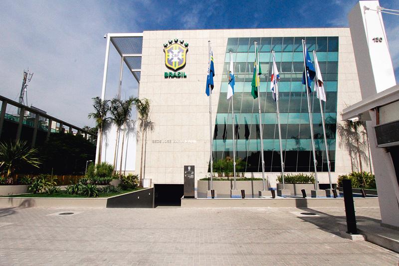 A sede da CBF, no Rio: inaugurada em 2014, após investimentos de 100 milhões de reais