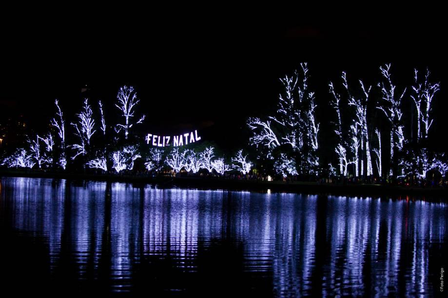 Natal Iluminado: fonte do Parque do Ibirapuera