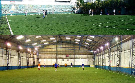 Seis campos de futebol society podem ser alugados para bater uma bola