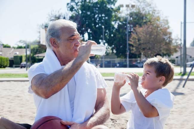 Hidratação - beber água