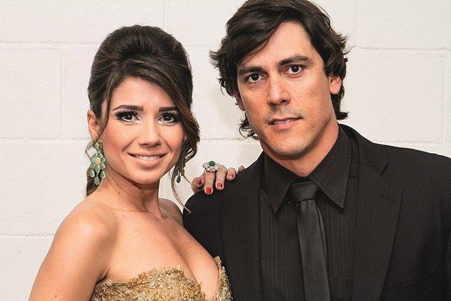 Paula Fernandes e o namorado, Henrique do Valle no show Concert In Rio 2014.