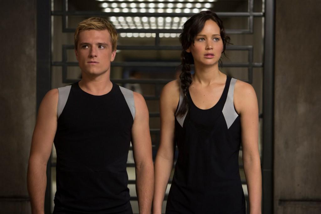 Josh Hutcherson e Jennifer Lawrence, os protagonistas de Jogos Vorazes - Em Chamas