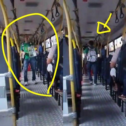 Estudante dá aulas de História em ônibus em Belém (Foto: Reprodução)