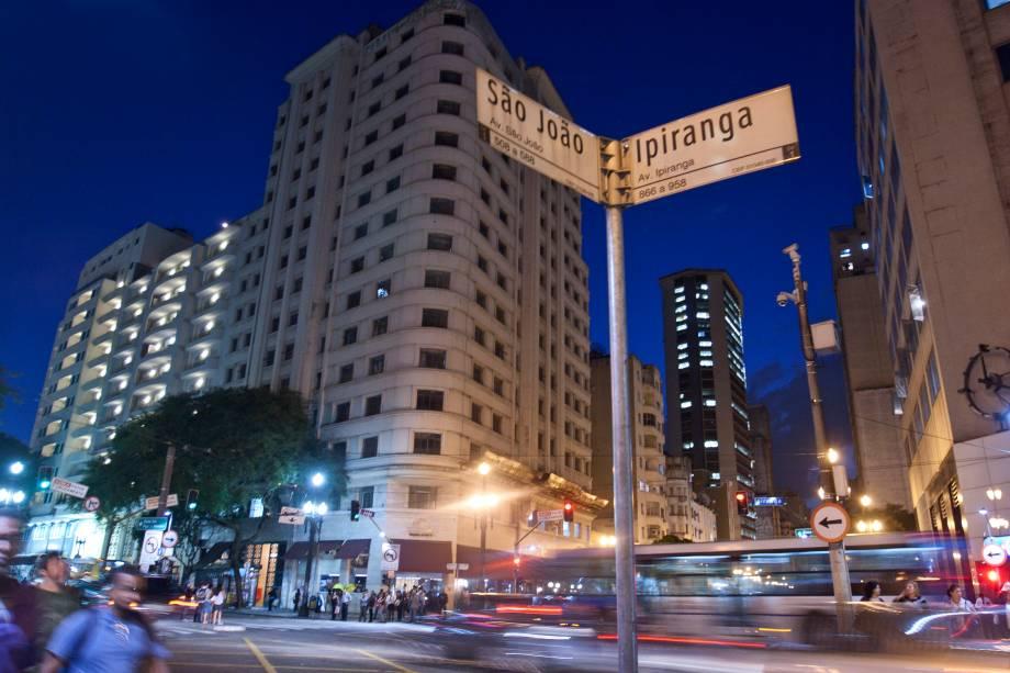 A esquina mais famosa da cidade: Ipiranga com a São João