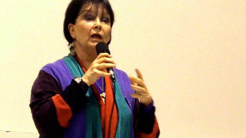 A atriz em imagem de 2012