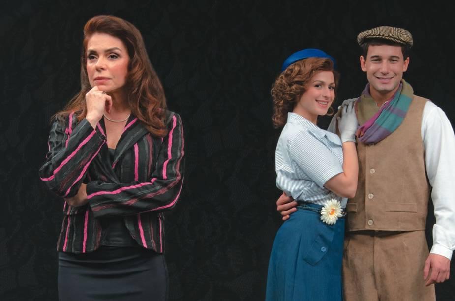 Françoise Forton, Isabela Montanaro e Rafael Almeida estão no musical Enlace - A Loja do Ourives