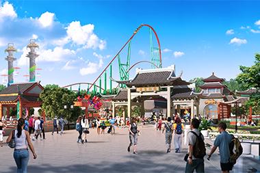 Parque temático de Nanchang inaugurado no último final de semana