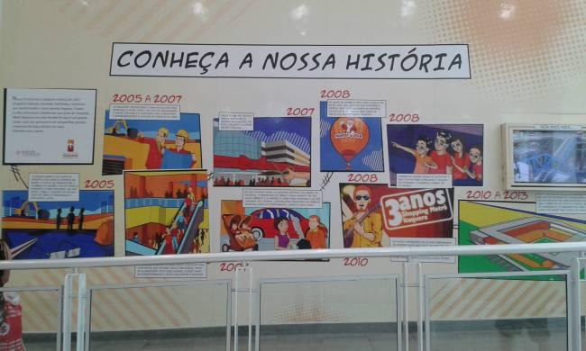 Parede de história - Shopping Metrô Itaquera