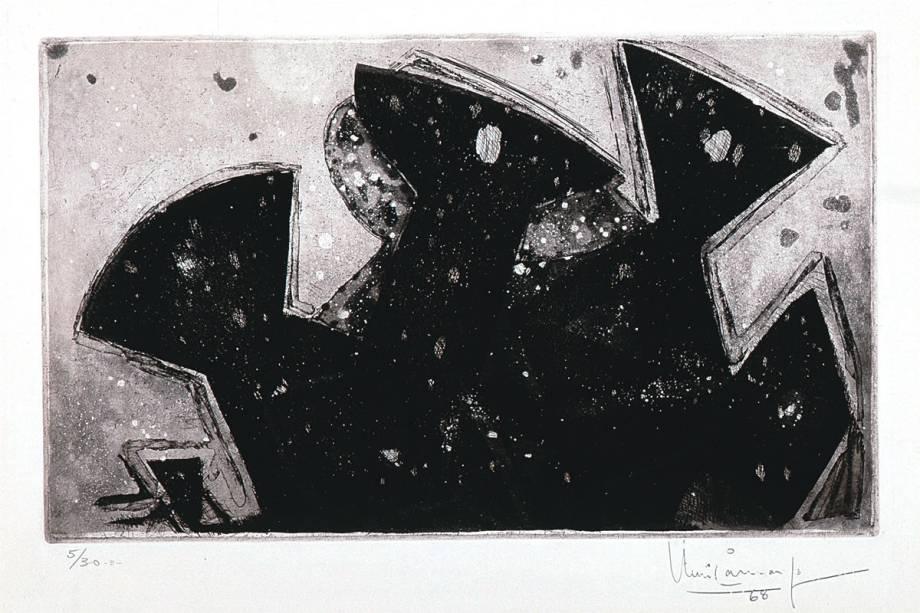 Gravura de Iberê Camargo: pinçada do acervo da Pinacoteca
