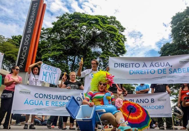 Protesto Crise hídrica Palácio dos Bandeirantes