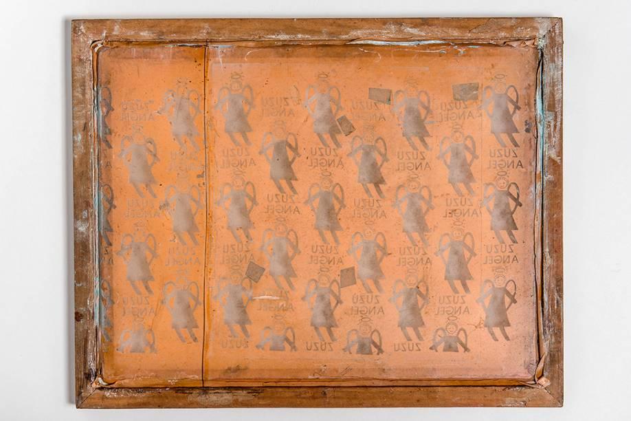Serigrafia com os anjos que viraram sua marca registrada