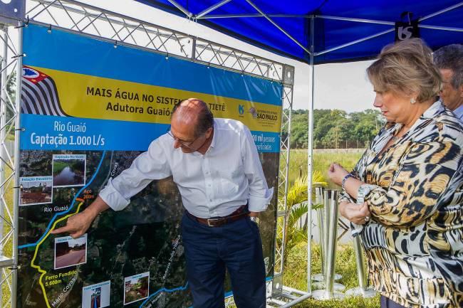 Alckmin inaugura obra Alto Tietê