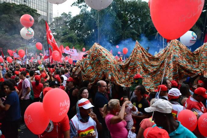 Protesto pró Dilma e Lula