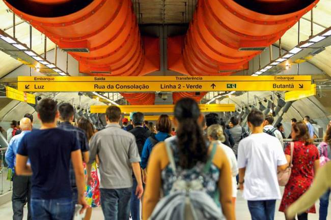 Estação Paulista do Metrô - Linha 4-Amarela