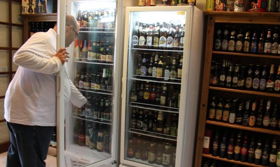 Salão da loja e bar A Boa Cerveja, na Mooca