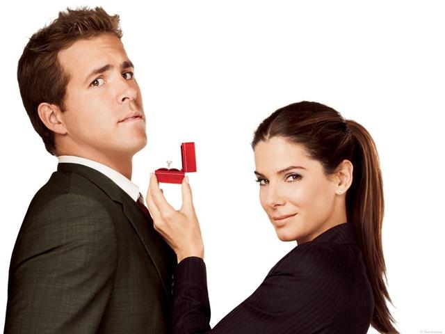 Ryan Reynolds e Sandra Bullock em A Proposta