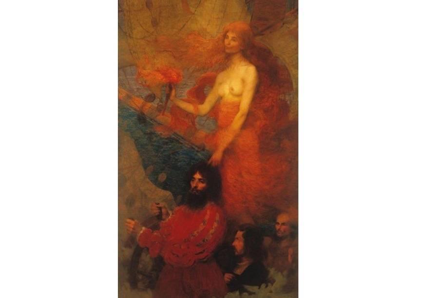 A Providência Guia Cabral, óleo de Eliseu Visconti