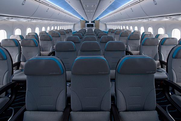 787 ZA003 World Tour Plane Interior PhotographyK65493-02