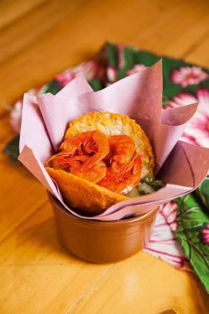 Acarajé com camarão seco: versão tradicional