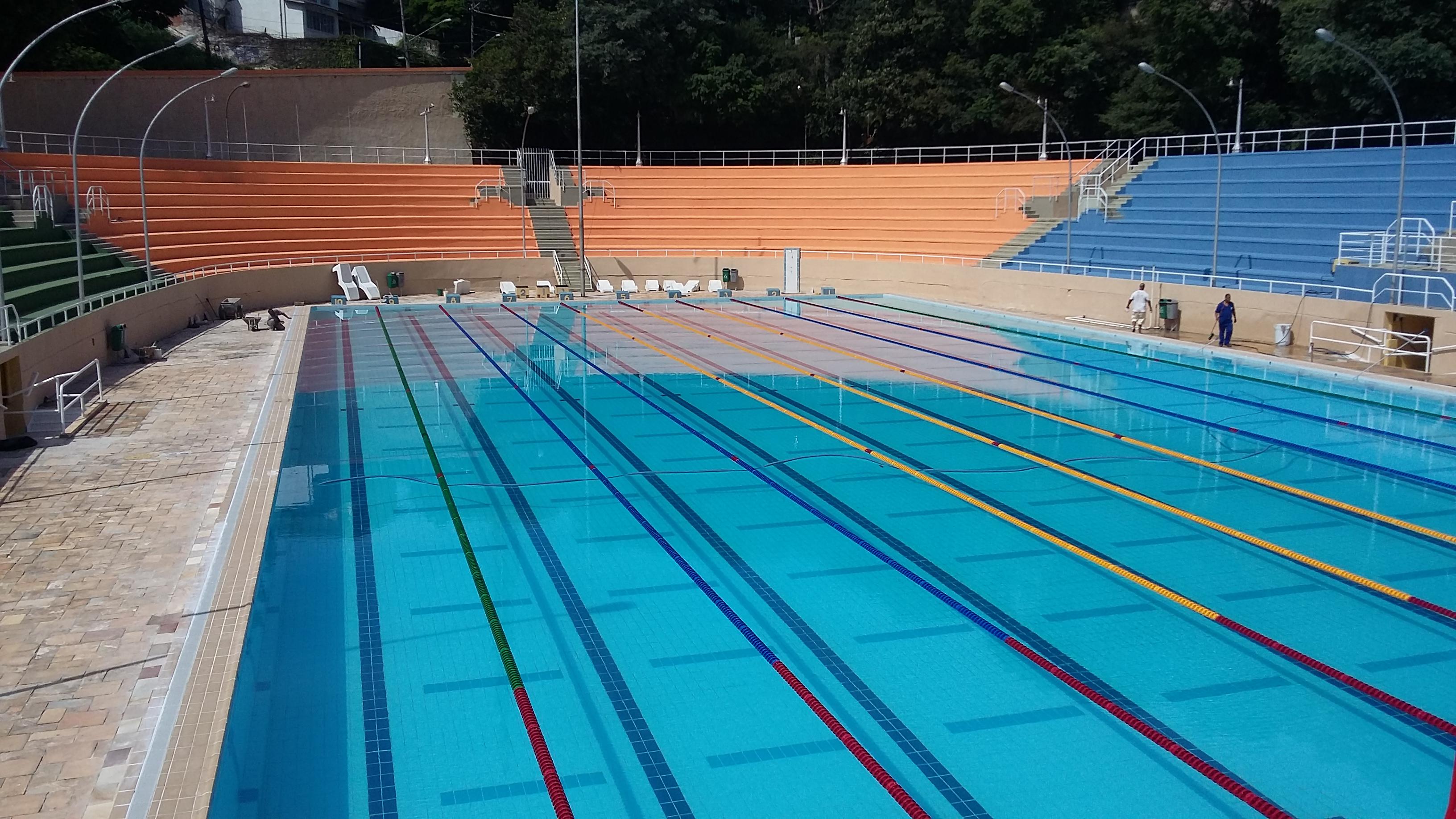 Piscina agora possui as medidas olímpicas (Foto: Divulgação)