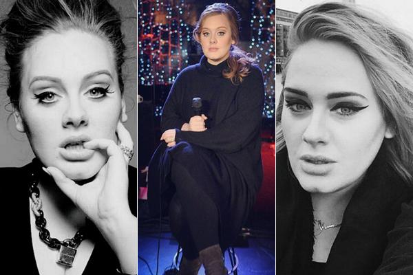 A cantora Adele em fotos de 2014: visual mais enxuto (Reprodução/Instagram)
