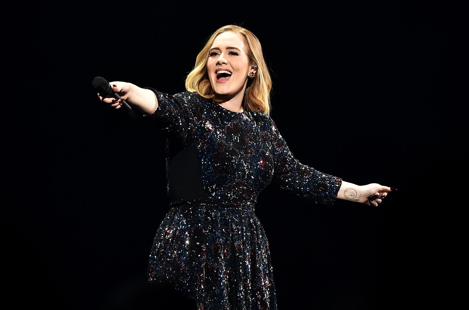 Adele: forte concorrente de Beyoncé (Foto: Reprodução)