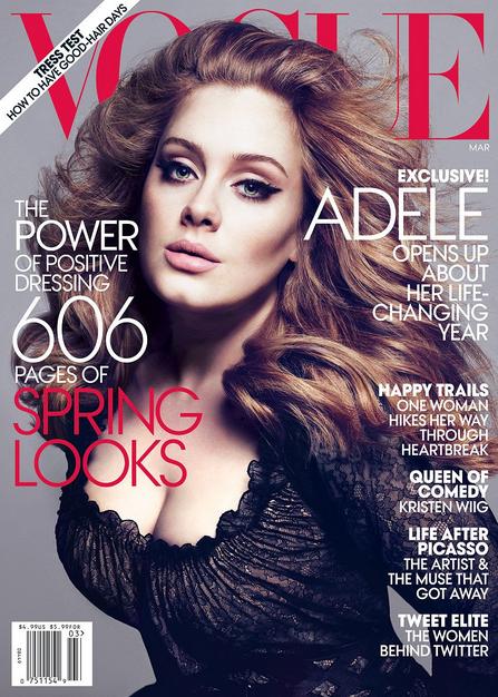 Na capa da revista Vogue, em 2013