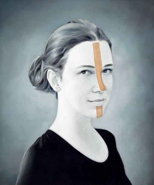 Retrato da série Polvo: intervenção de tinta