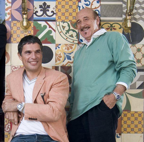 Anquier e Altobelli: parceria de longa em foto de 2009