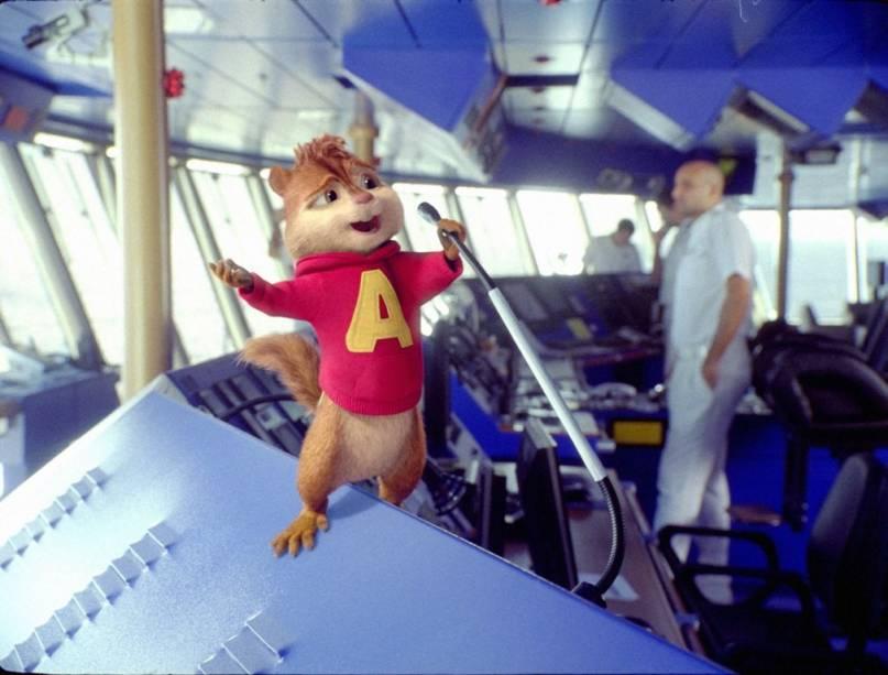 Alvin a bordo de um luxuoso navio: muita cantoria em Alvin e os Esquilos 3