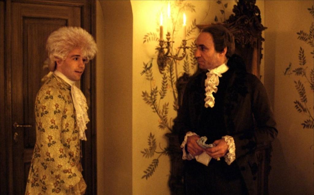 Mozart e Salieri no deslumbrante Amadeus: vencedor de oito prêmios no Oscar