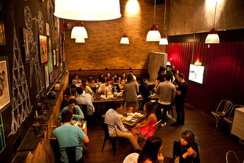 O concorrido salão: movimentado na época da inauguração em novembro (Fotos: Lucas Lima)