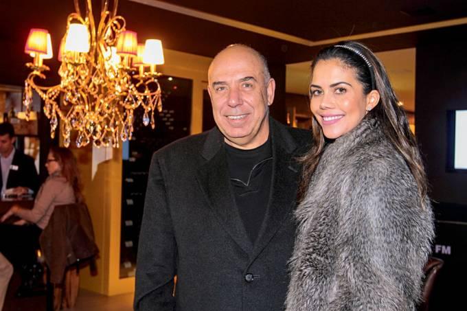 Amilcare Dallevo e Daniela Albuquerque no espaço Casa Cor.