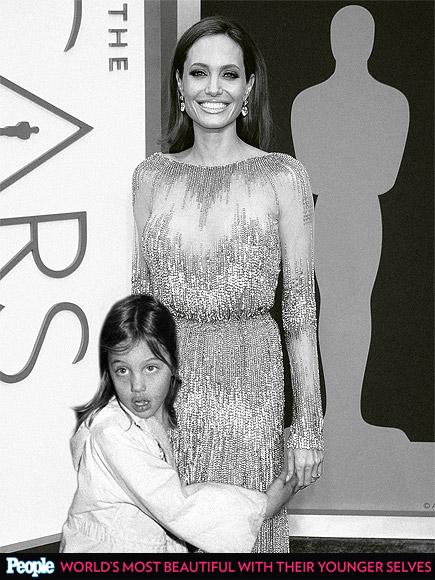 Angelina Jolie em 1980 e em 2014